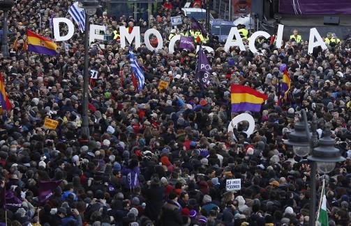 MADRID. 31-1-15. MARCHA DE PODEMOS. FOTO: JOSE RAMON LADRA.
